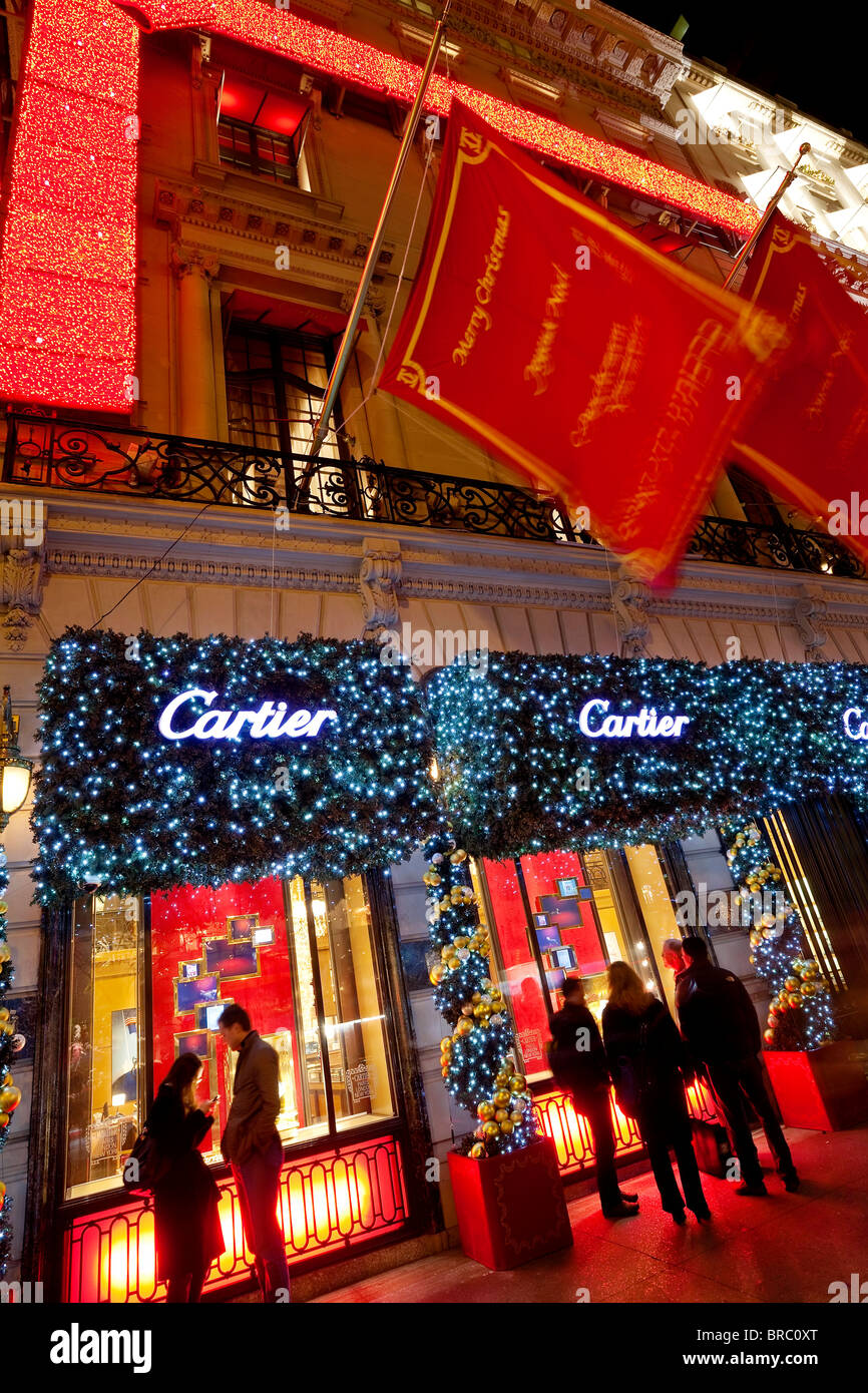 christmas lights and decorations outside the cartier store fifth avenue manhattan new york city new york usa - Christmas Lights Store