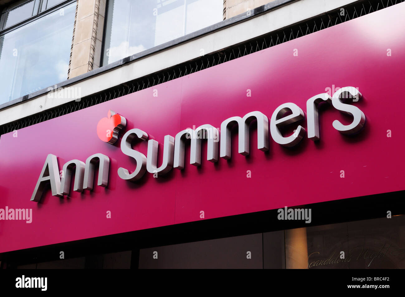 Ann Summers lingerie shop sign logo, London, England, UK Stock ...