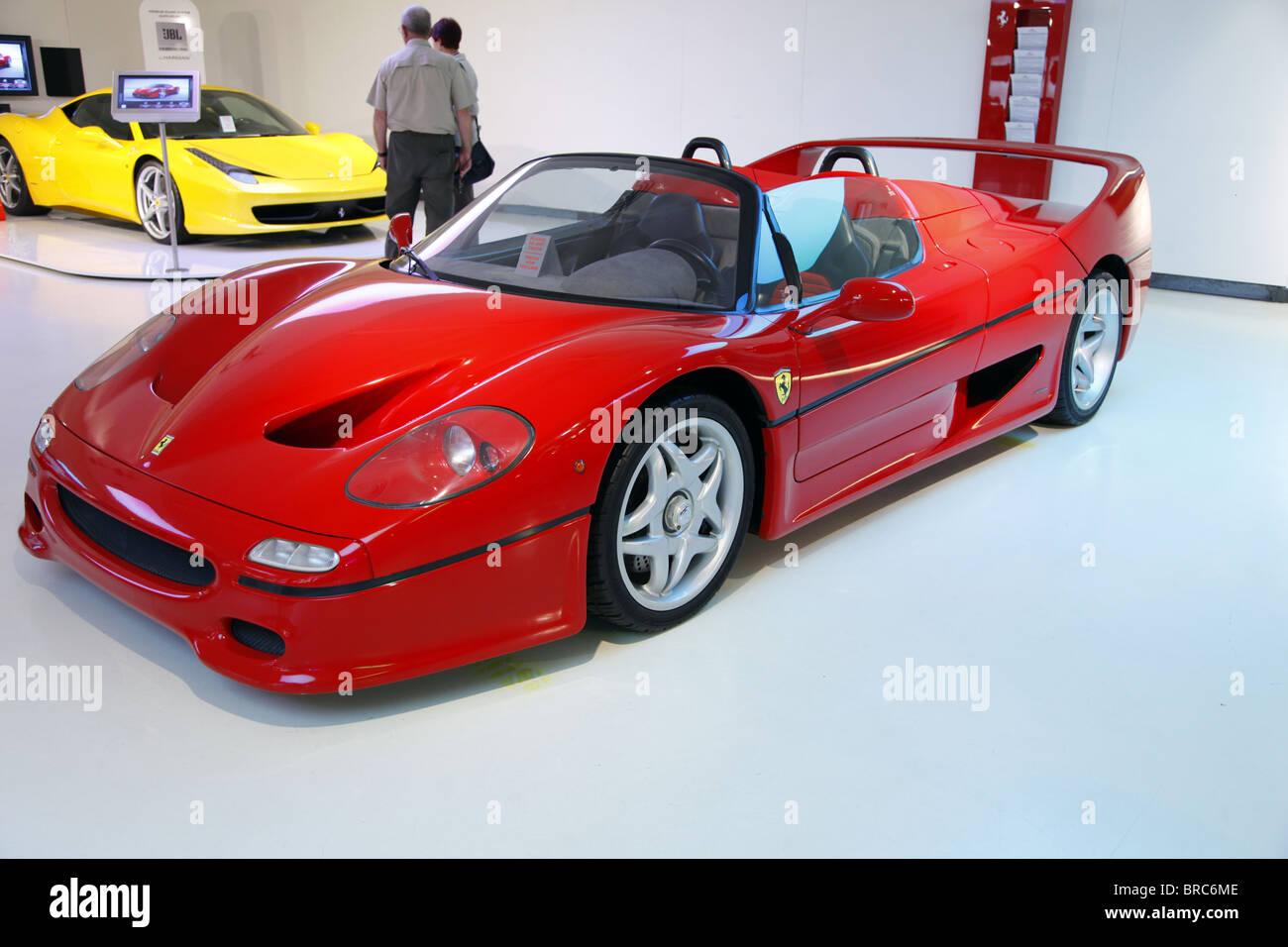 Ferrari f50 stock photos ferrari f50 stock images alamy red ferrari f50 1995 galleria museum maranello italy galleria museum 07 september 2010 stock image vanachro Choice Image