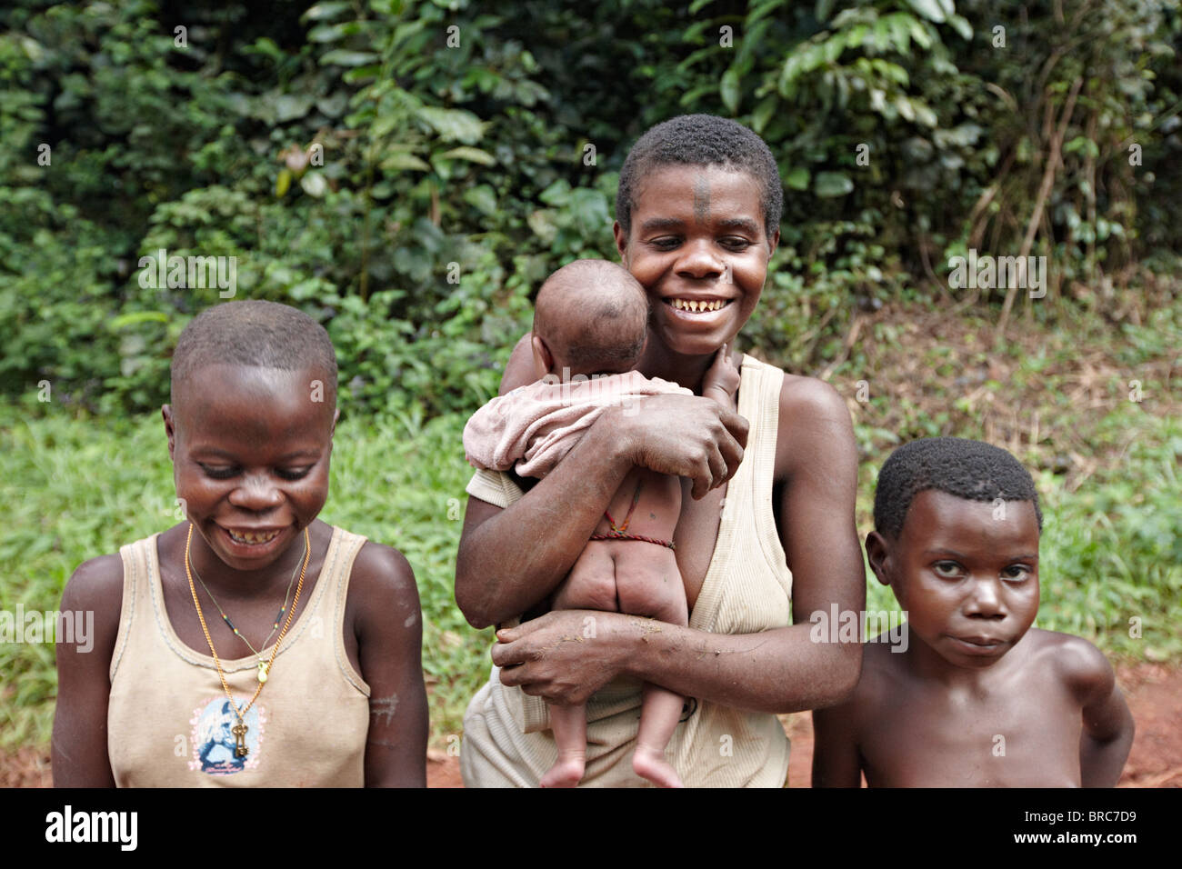 Baaka Pygmies Dzanga Sangha Reserve Central African Republic Africa