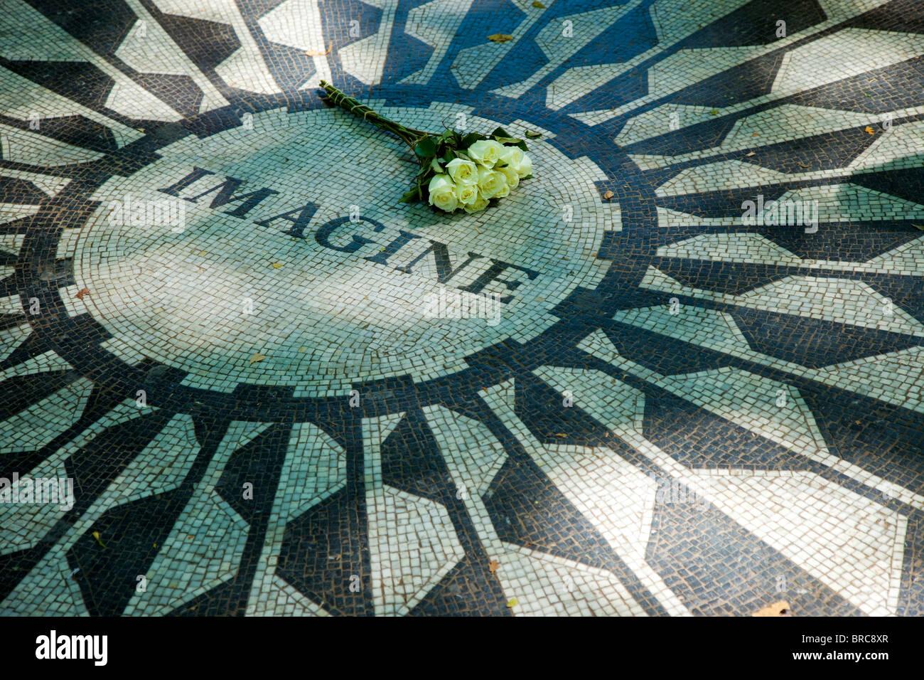 http://c8.alamy.com/comp/BRC8XR/white-roses-placed-on-imagine-the-john-lennon-memorial-mosaic-in-strawberry-BRC8XR.jpg