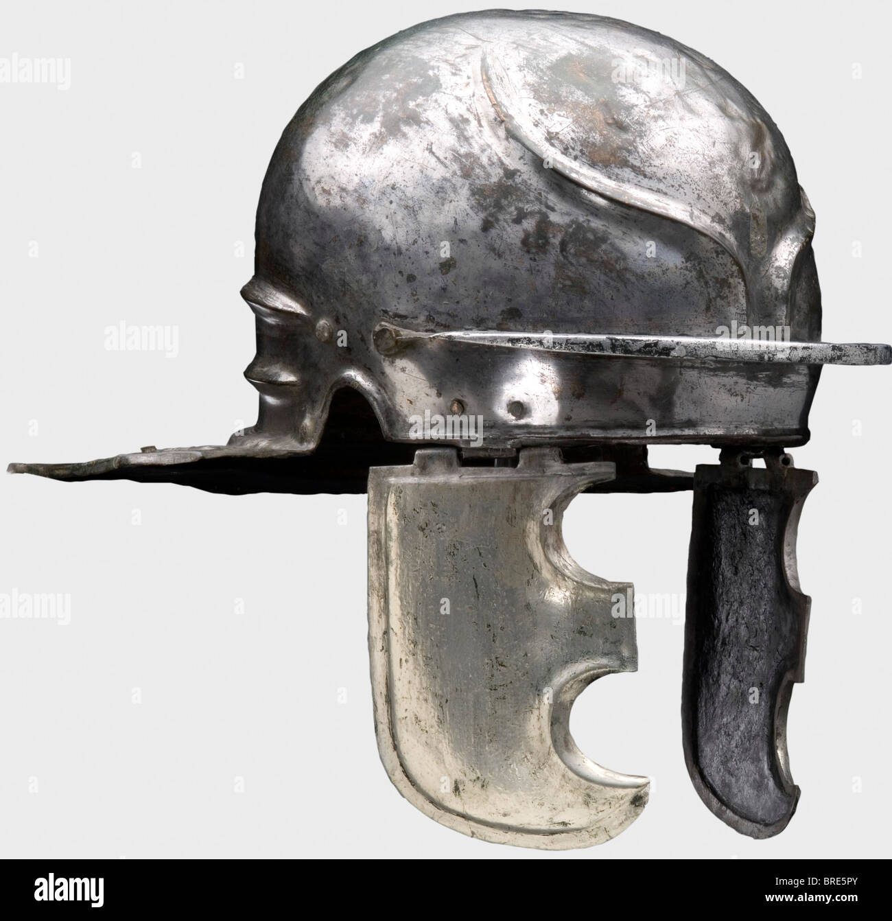 a roman helmet of the weisenau nijmegen type 1st century b c to