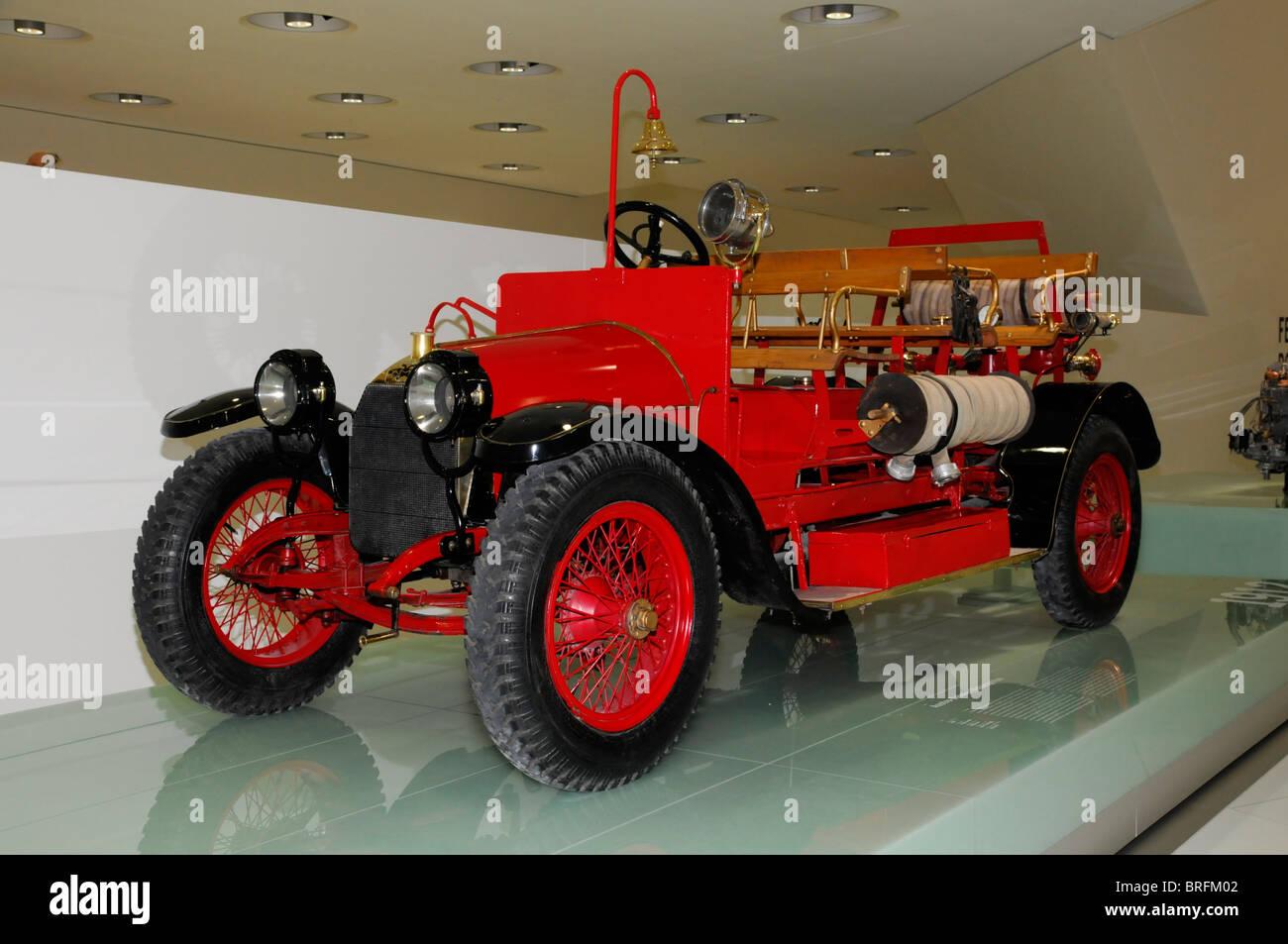 Fire Engine, New Porsche Museum, Stuttgart, Baden Wuerttemberg, Germany,  Europe