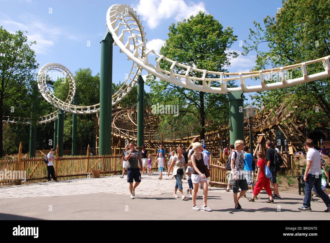 Roller coaster at efteling theme park kaatsheuvel for Amusement park netherlands
