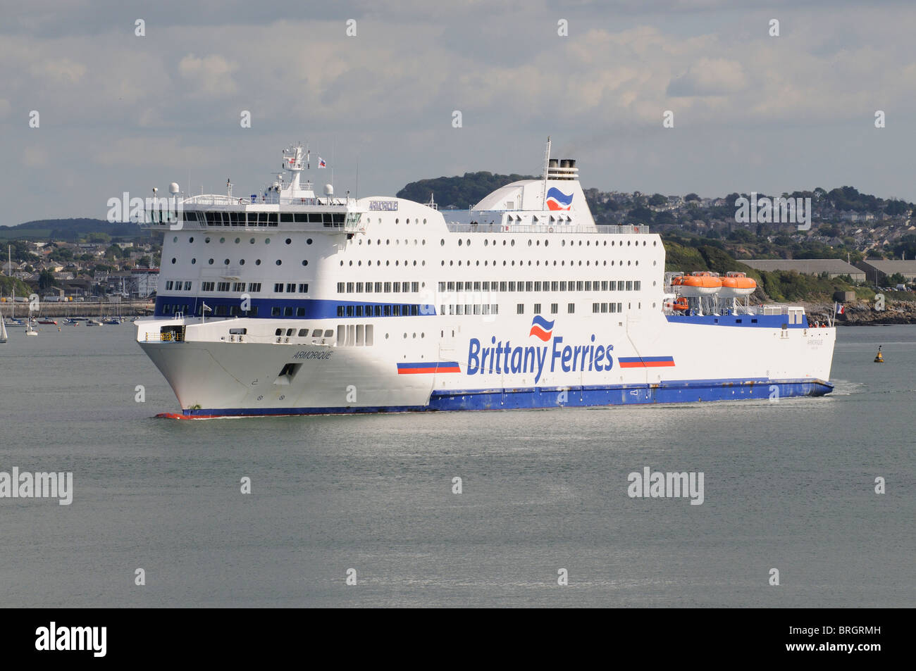 Mv Armorique A Roro Brittany Ferries Company Ferry Inbound To
