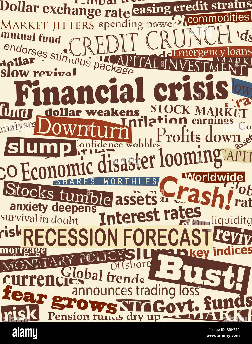 background design of newspaper headlines about economic