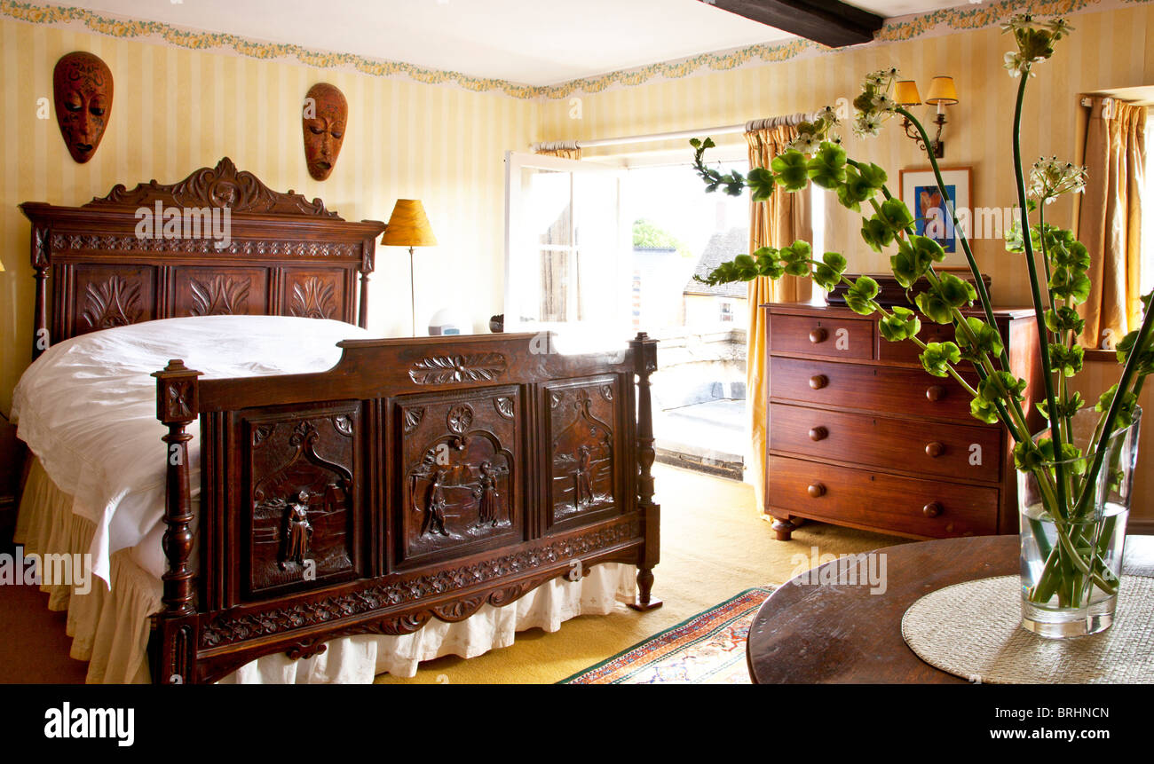 Guest Bedroom In An Old English Country House