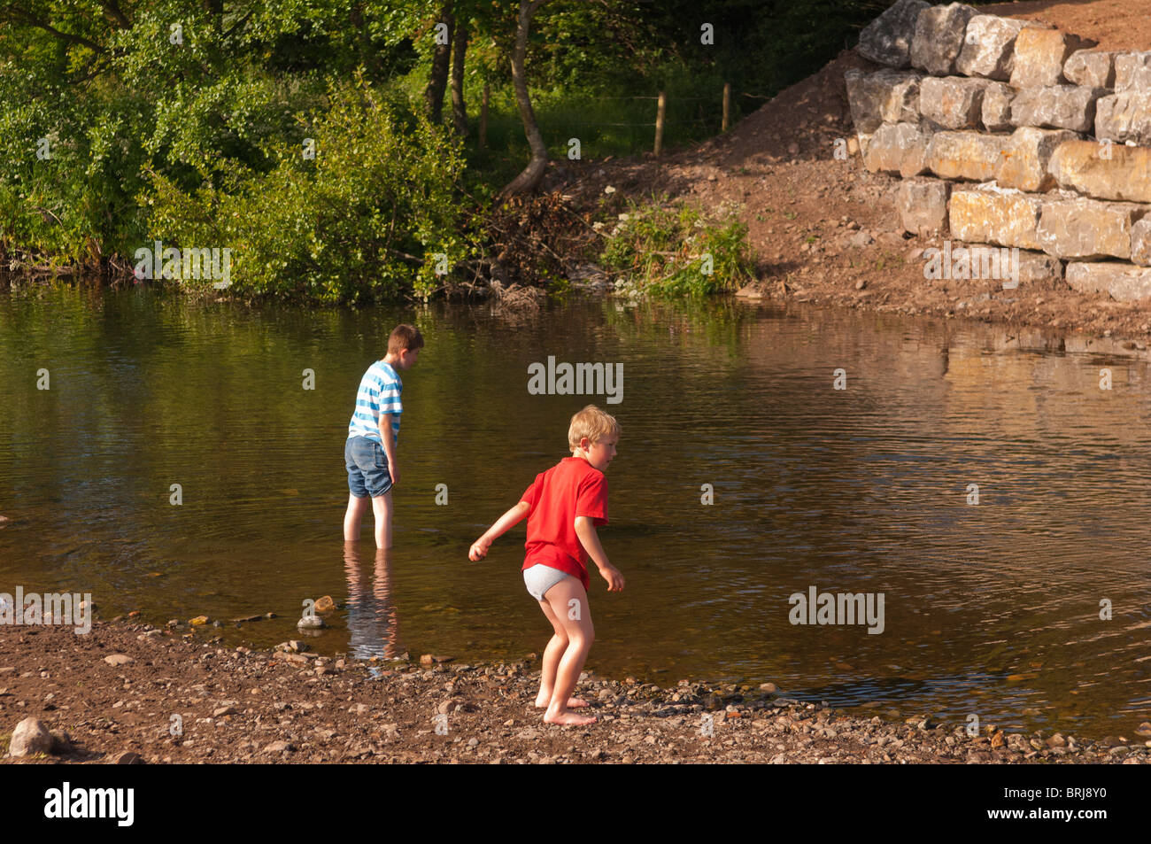 Two Model Released Boys 6 10 Play In The River Ehen In  # Modele Banc En Bois