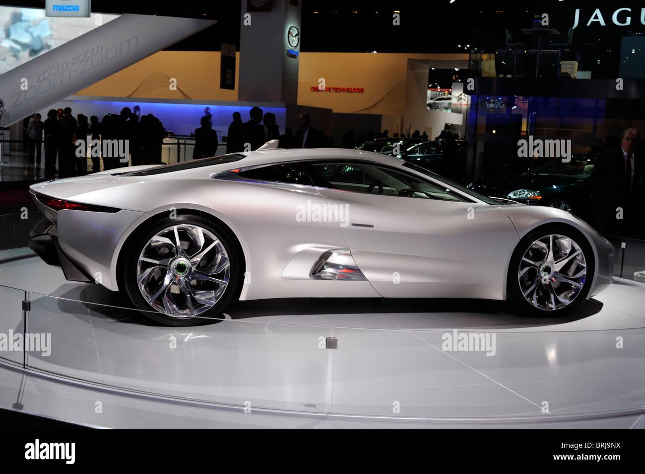 Jaguar cx 75paris motor show france stock photo royalty free jaguar cx 75paris motor show france publicscrutiny Images