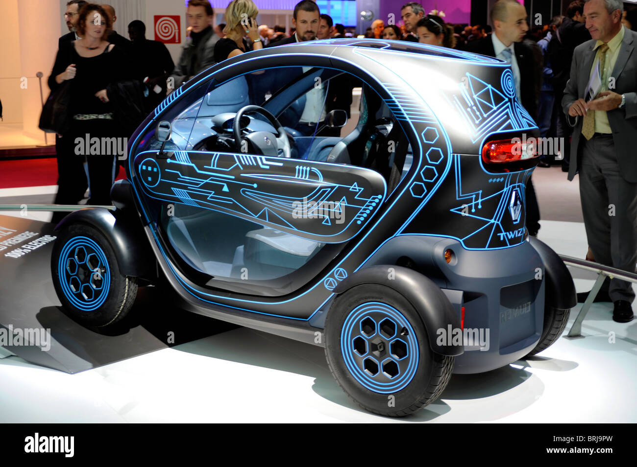 renault twizy electric car zero emission paris motor show france stock photo royalty free. Black Bedroom Furniture Sets. Home Design Ideas