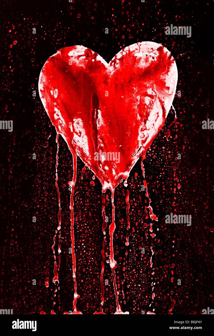 Bleeding and broken heart symbol of love in grunge style stock bleeding and broken heart symbol of love in grunge style buycottarizona