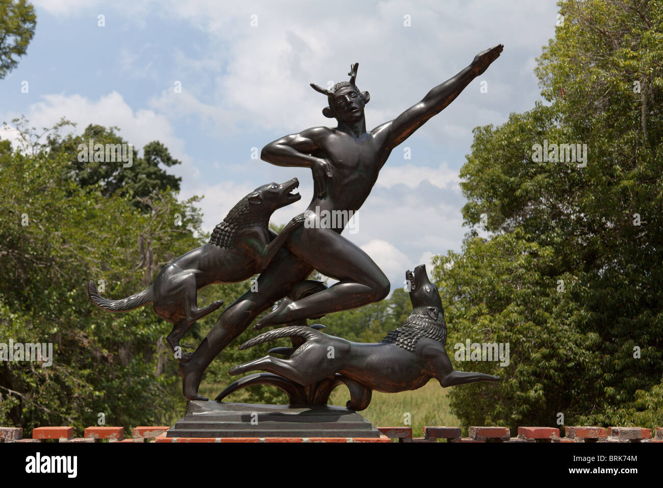 Actaeon By Paul Howard Manship In Brookgreen Gardens, South Carolina    Stock Image