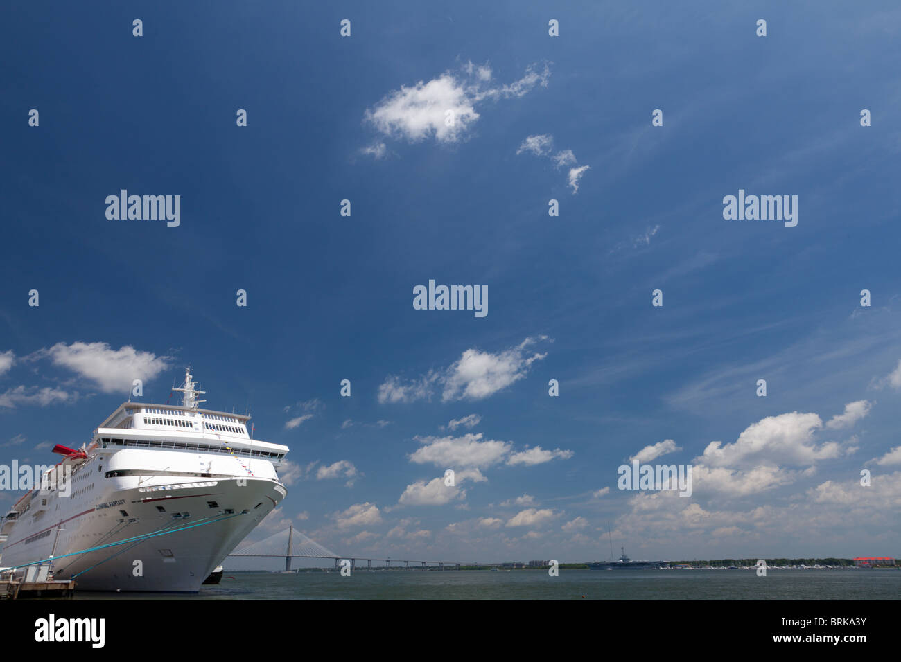 Carnival Triumph Cruise Ship Charleston South Carolina USA Stock - Cruise ships out of charleston south carolina