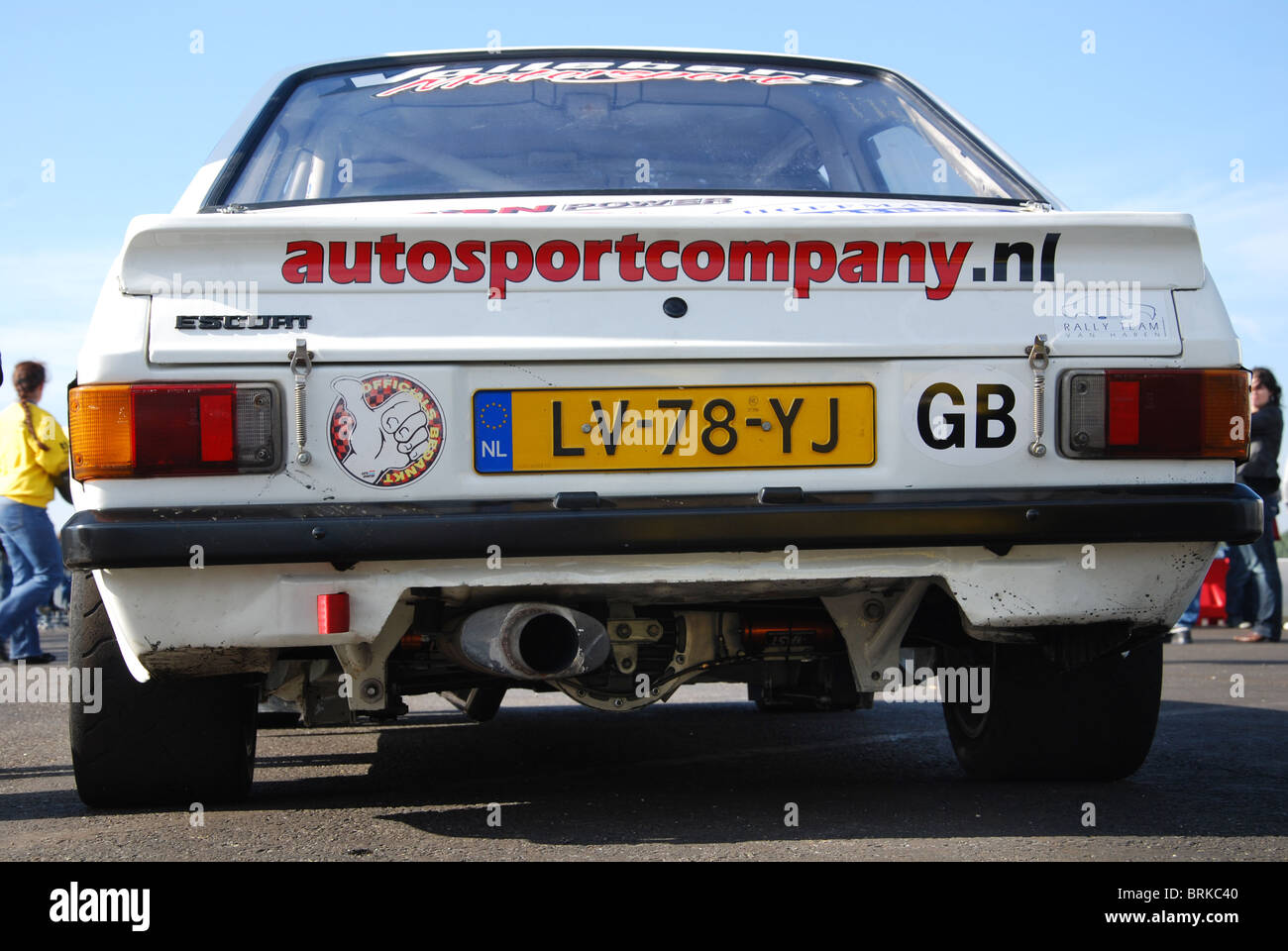 rear view of competition Ford Escort RS2000 Mk2 Stock Photo ...