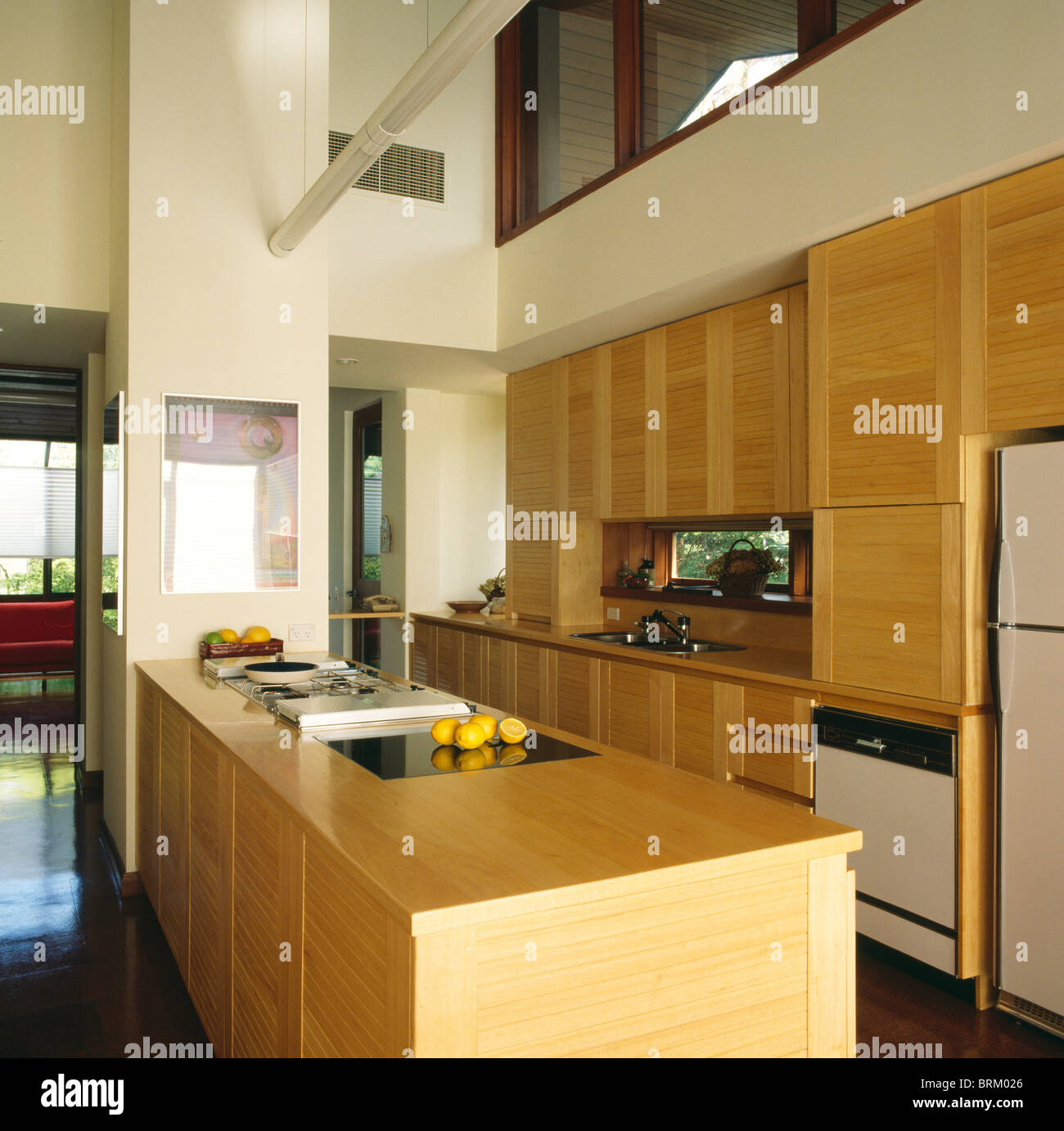 Jjo Urban Kitchen Modern Fitted Kitchens: Peninsular Unit With Fitted Hob In Modern Double-height