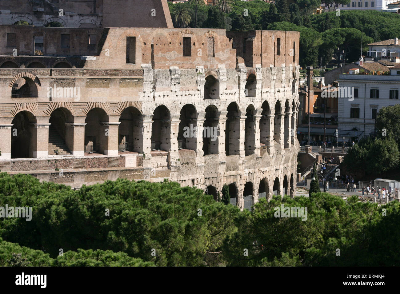 Colosseum View Ancient Architecture Engineering Attraction Appeal Flavian Amphitheater Elliptical Capital European History