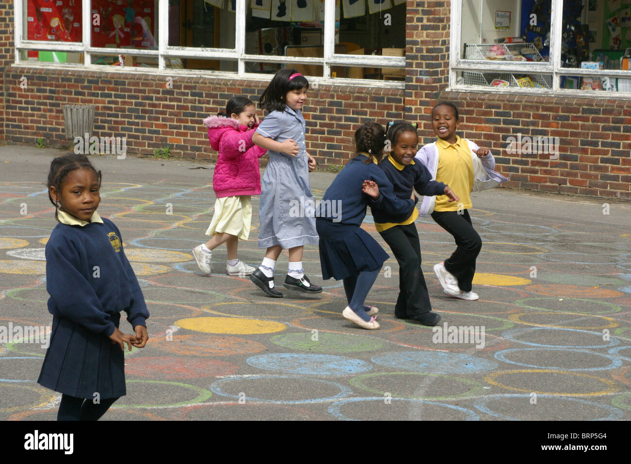 Children playing in the school playground