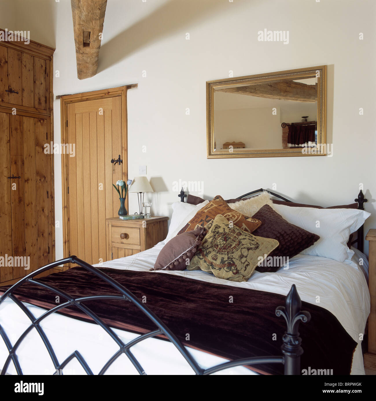 Mirror Ceiling Bedroom Country Bedroom With Mirror On Wall Above Gothic Style Bed With