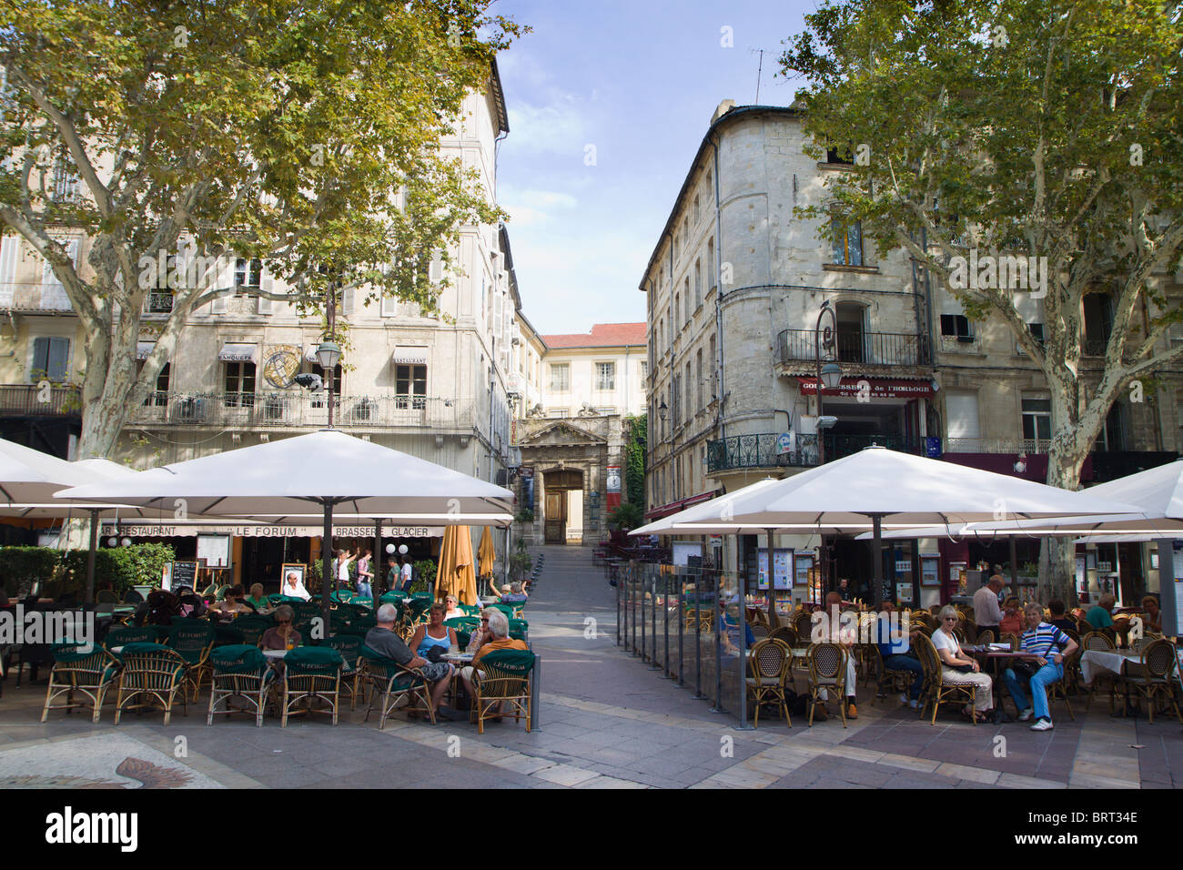 place de l 39 horloge avignon france stock photo royalty free image 31876782 alamy. Black Bedroom Furniture Sets. Home Design Ideas