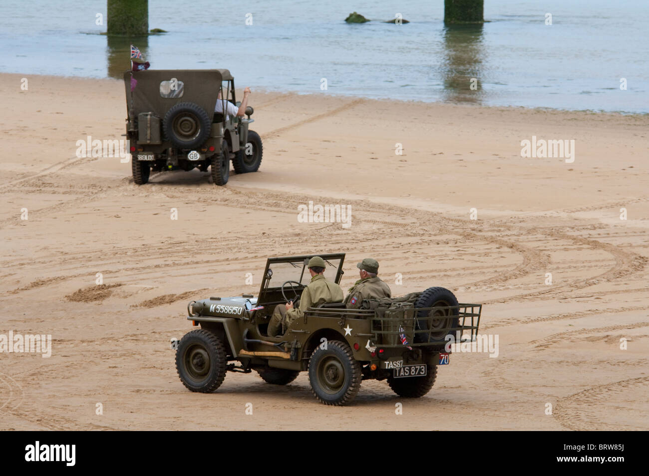 France Normandy Saint Laurent Sur Mer Omaha Beach Vintage Jeep