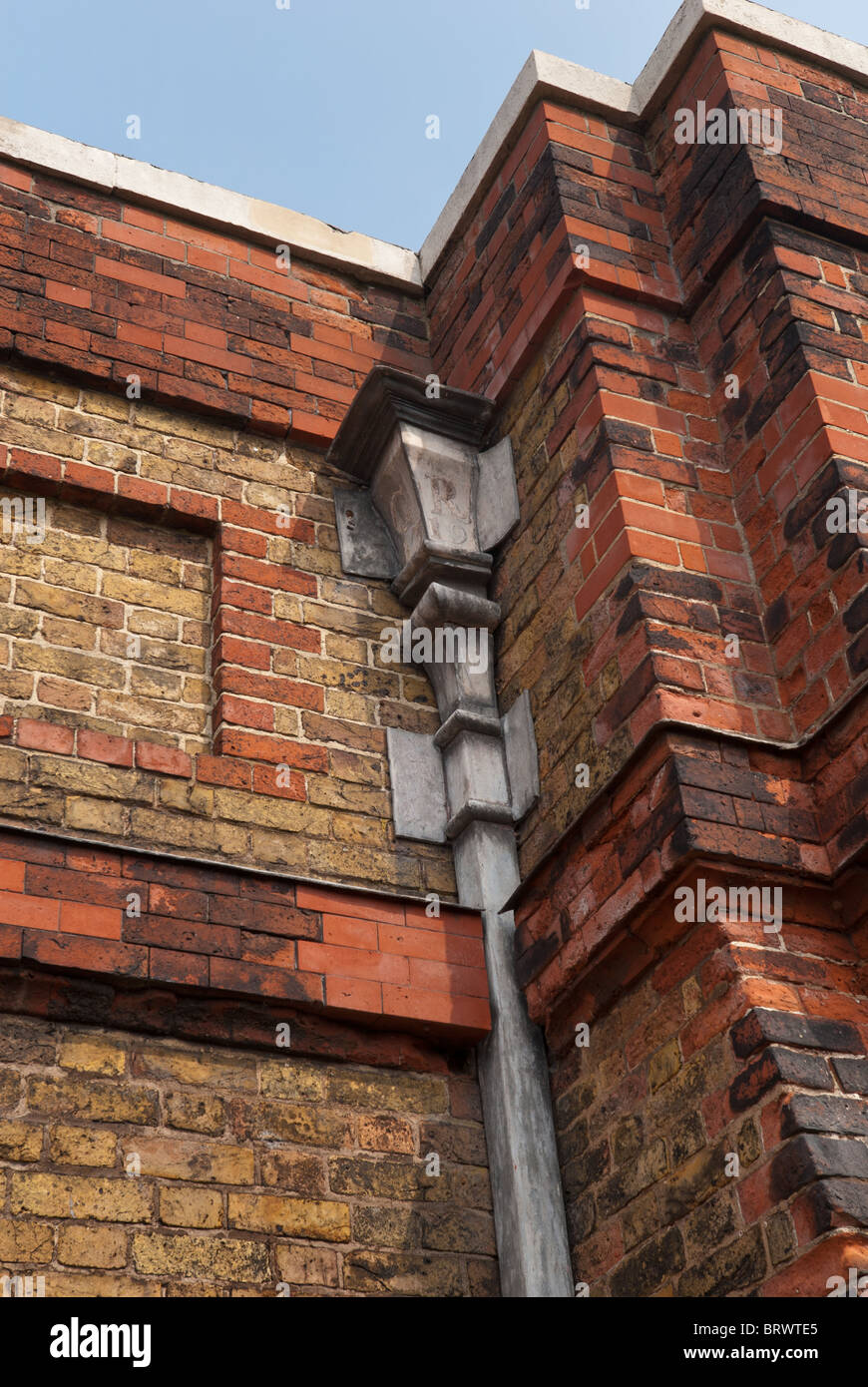 Lead Pipework In Keeping With Architectural Restoration Practice Ties In  With Brickwork