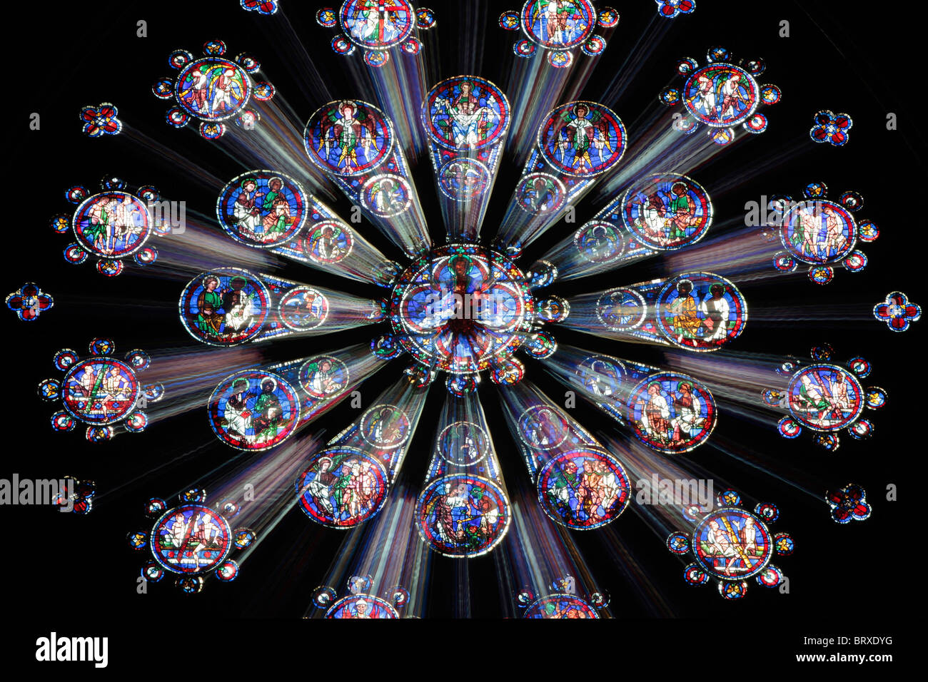 chartres cathedral west rose window the