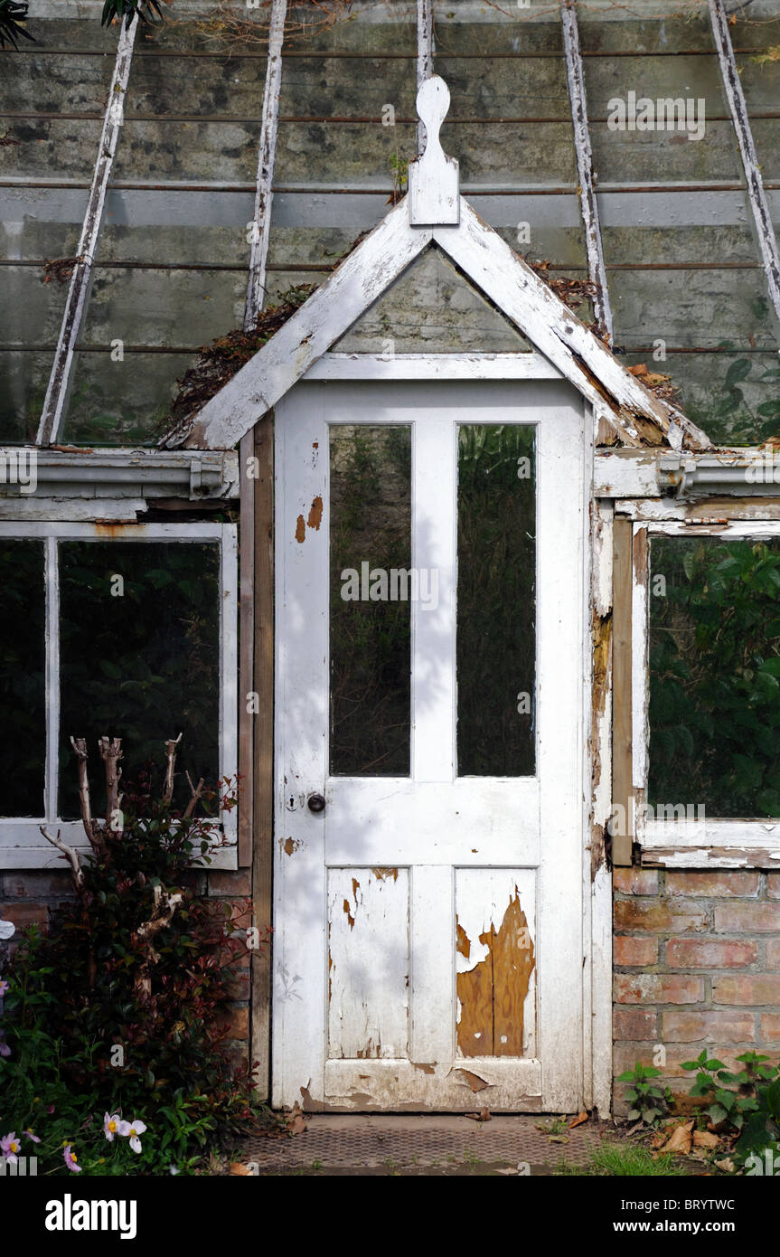 Door Of Into An Old Decrepit Victorian Style Greenhouse