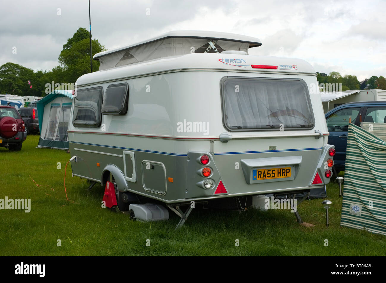 eriba touring gt pop top touring caravan stock photo royalty free image 31967104 alamy. Black Bedroom Furniture Sets. Home Design Ideas