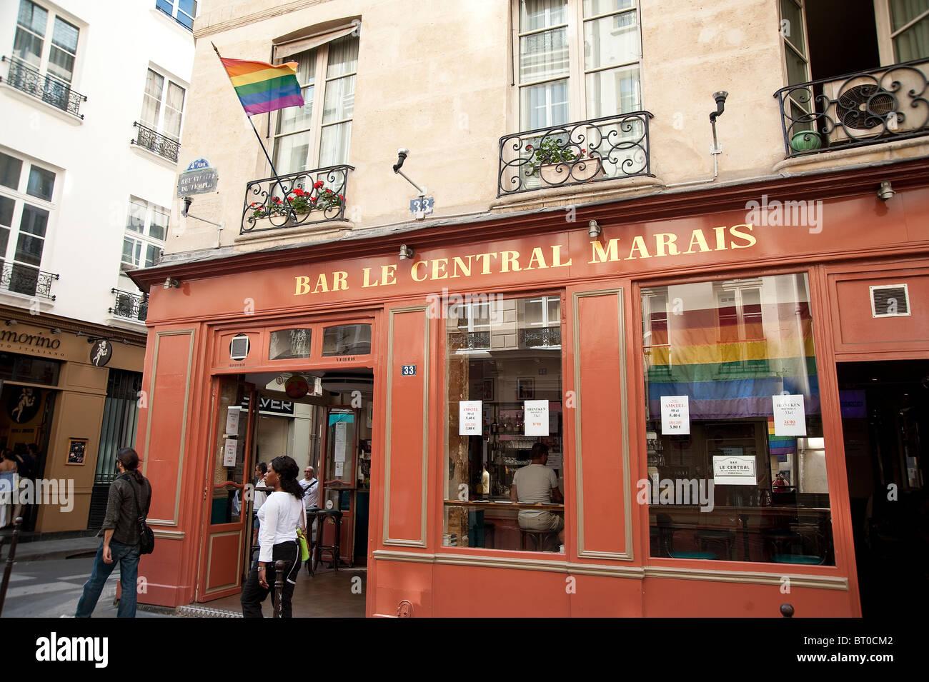 Bar le central in the marais district paris france stock photo royalty free image 31972082 - Bar le central ...