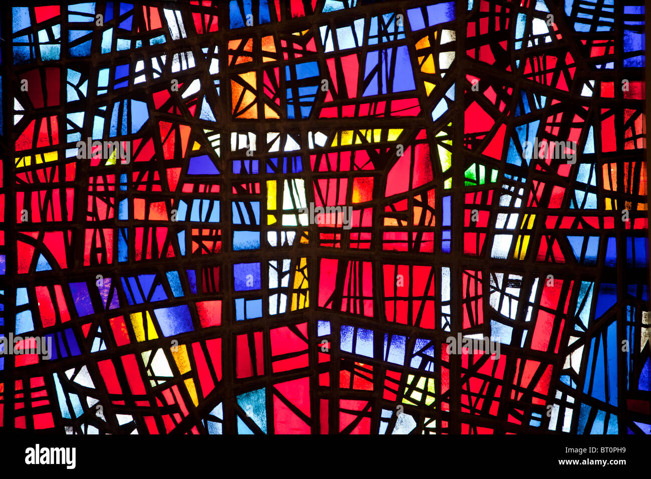 Stained Glass Windows In The Church At Skalholt One Of Oldest Religious Sites Iceland