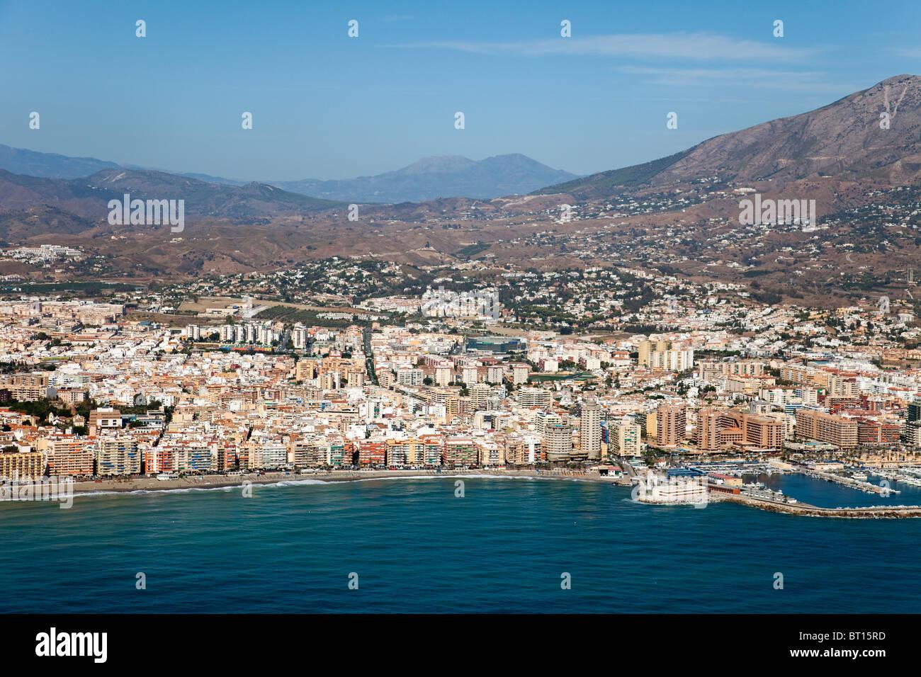 Vista aerea de fuengirola m laga costa del sol andaluc a espa a stock photo royalty free image - Fotografia aerea malaga ...