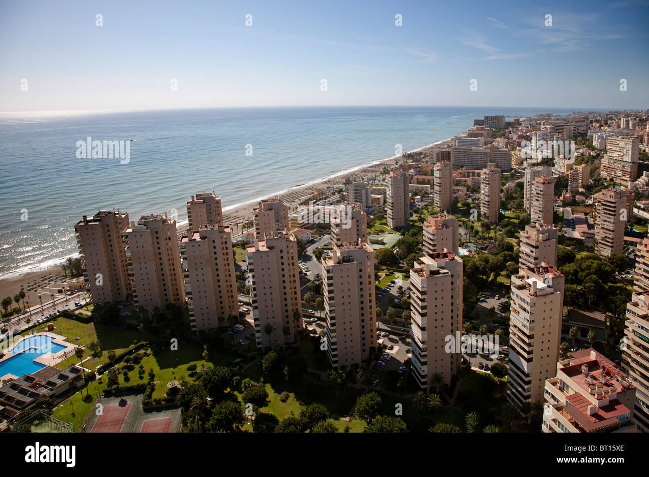 Vista aerea torremolinos m laga costa del sol andaluc a - Fotografia aerea malaga ...