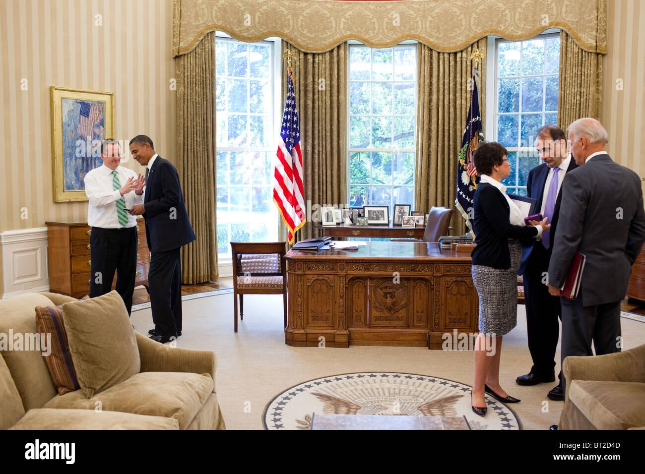 president obama talks with press secretary robert gibbs in the oval office stock image barack obama enters oval