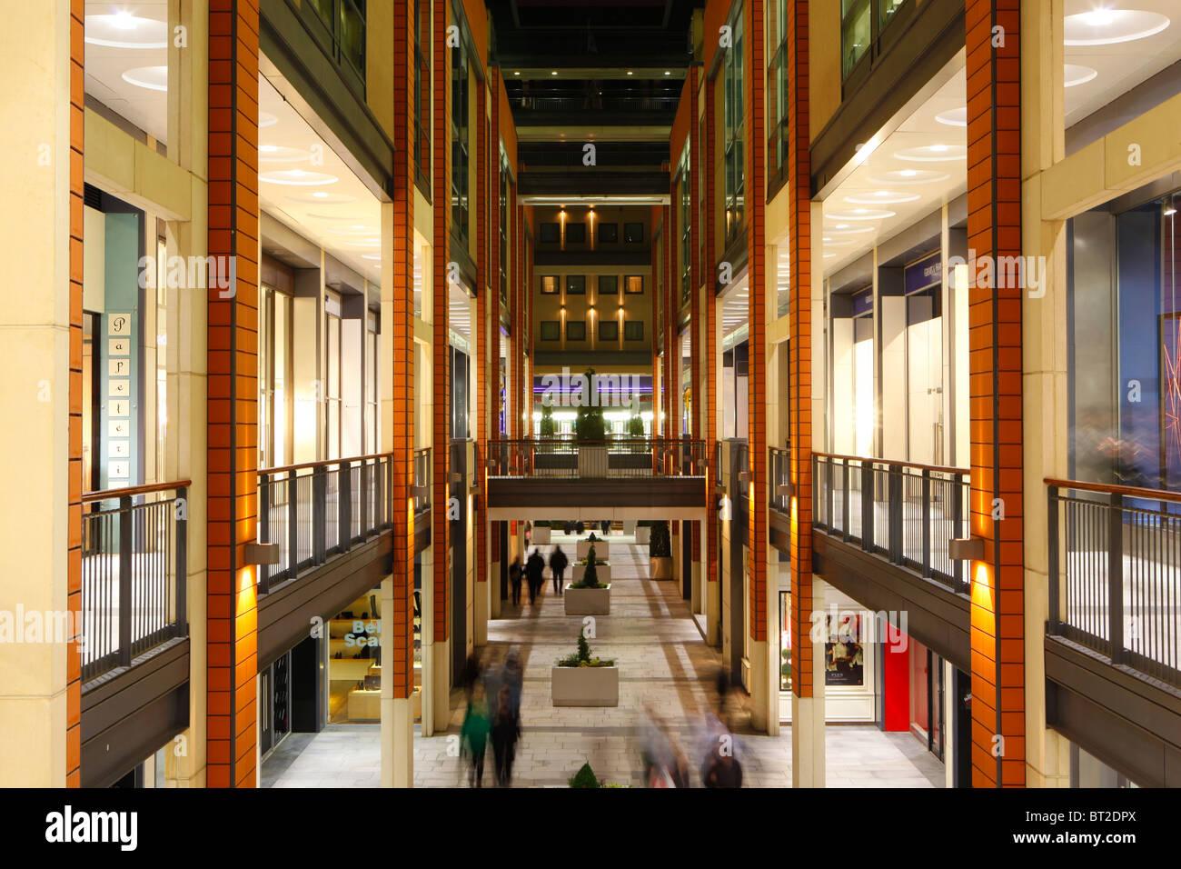 Stock Photo   The Interior Of The Mailbox Shopping Centre, Birmingham,  England, UK