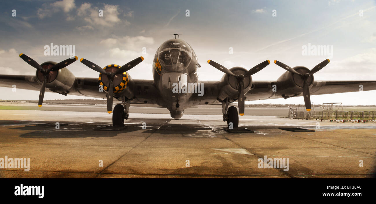 world war 2 american B17 bomber Stock Photo, Royalty Free ...