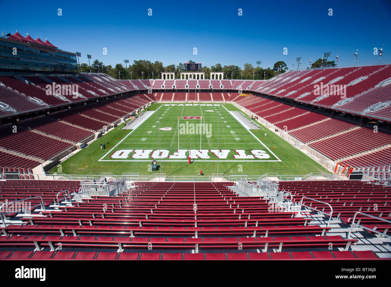General view of the interior of Stanford Stadium, Stanford ...