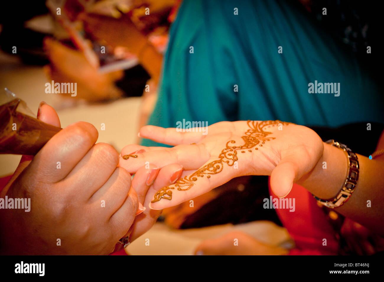 Henna Party Nyc : Henna party stock photo  alamy