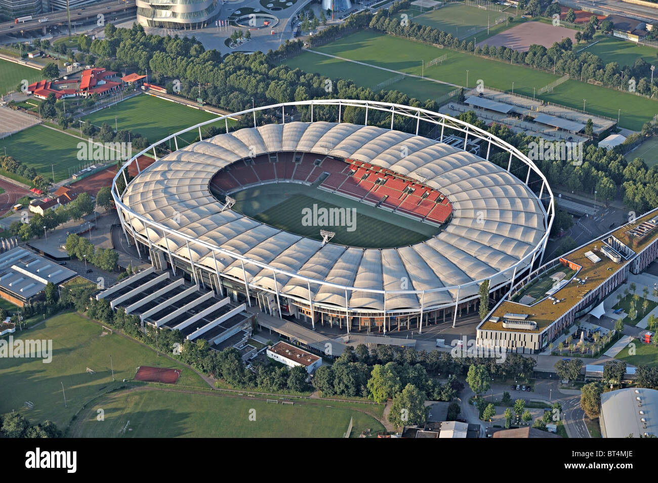 Mercedes benz arena soccer stadium stuttgar stock photo for Hotels near mercedes benz stadium