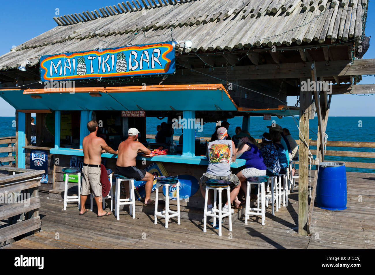 Tiki Bar At The End Of Cocoa Beach Pier Cocoa Beach