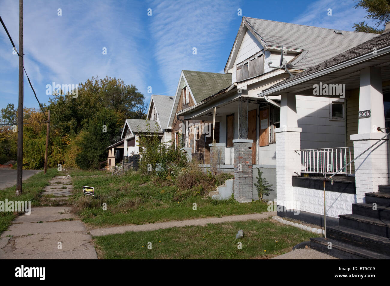 Abandoned homes west side of detroit michigan usa stock for Usa home builders