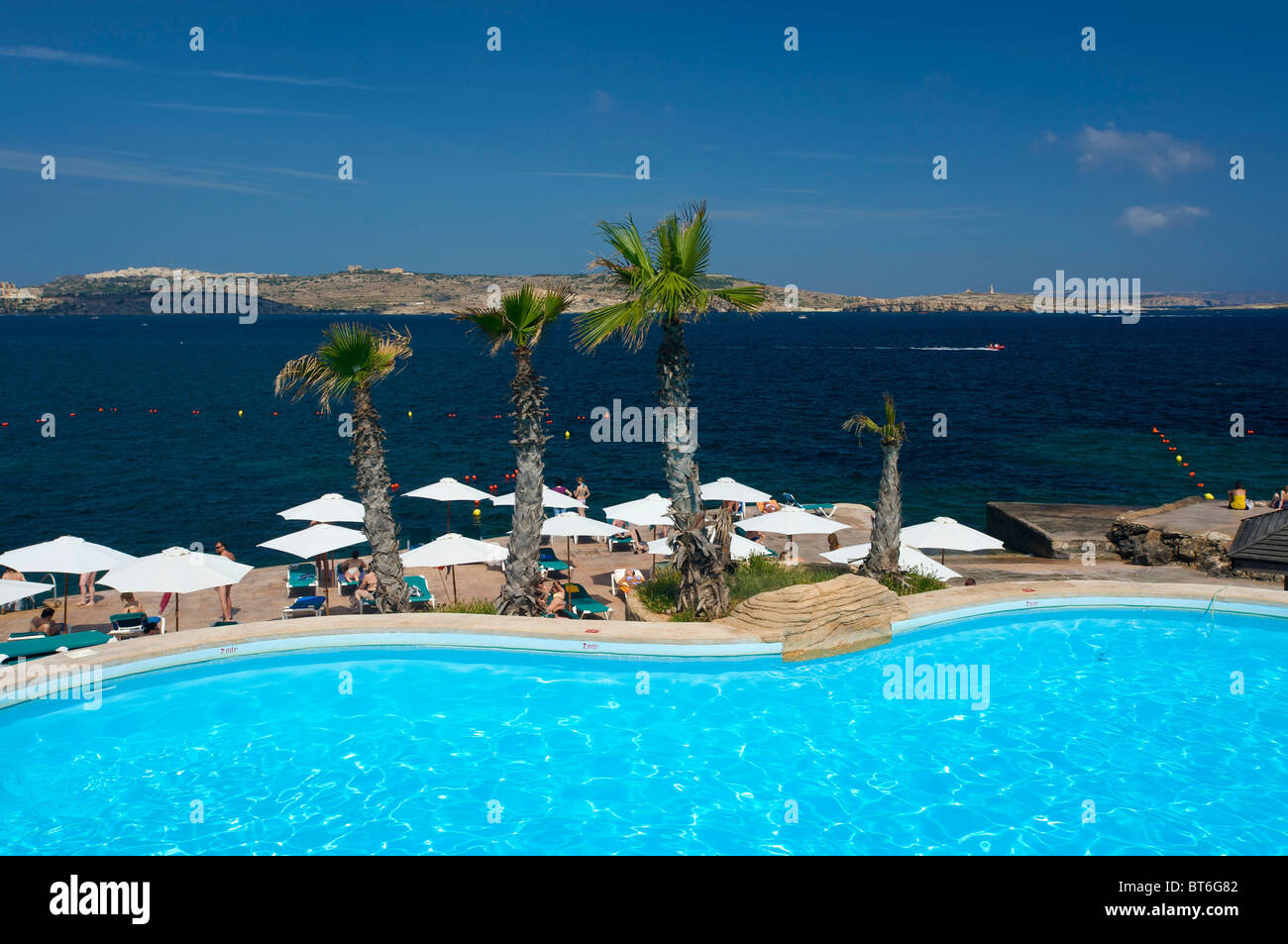 Hotel Swimming Pool St Pauls Bay Malta Stock Photo