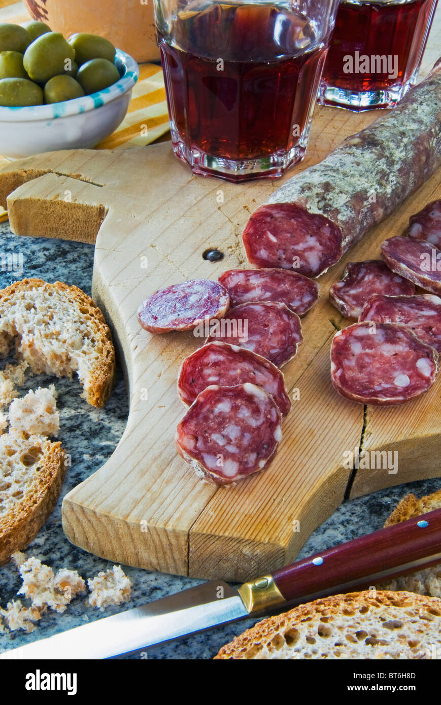 Spanish Fuet Salami Fuet Is Catalan Thin Cured Dry Sausage Of Pork Meat