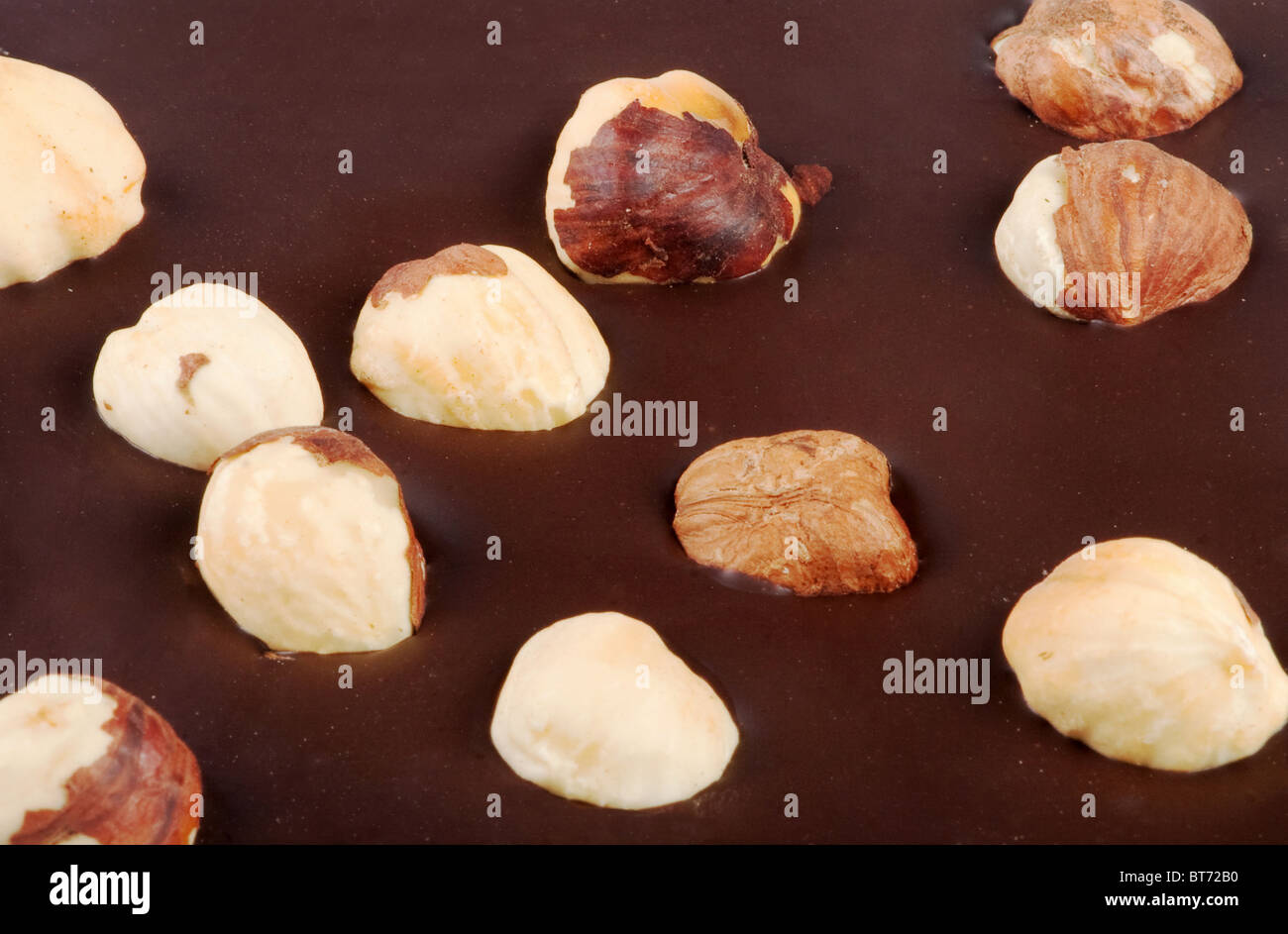 Close-up of nuts in the chocolate bar Stock Photo, Royalty Free ...