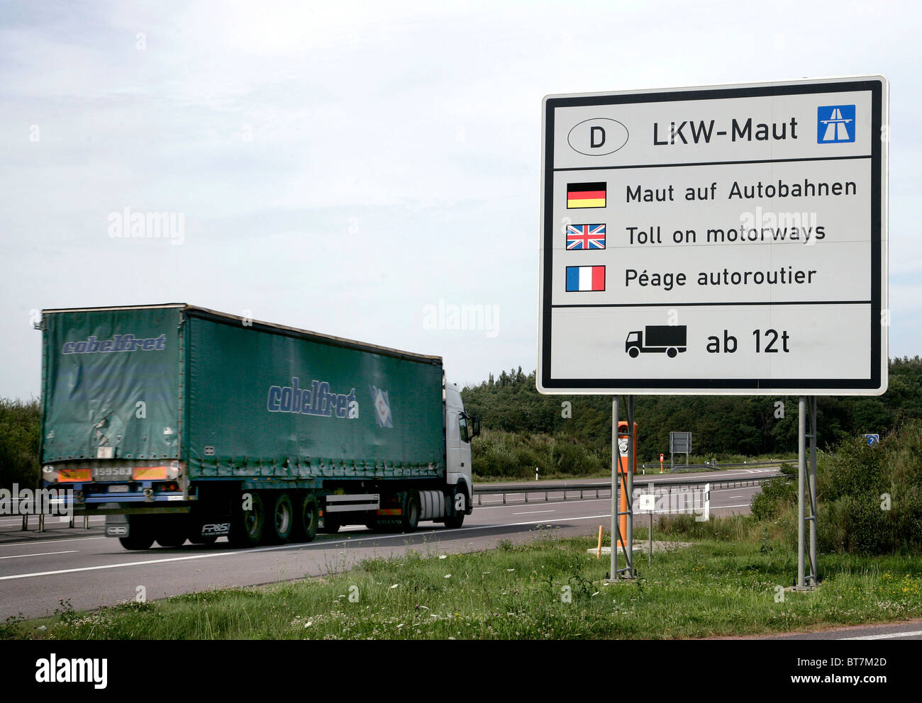sign on the e29 motorway indicating the toll for lorries. Black Bedroom Furniture Sets. Home Design Ideas