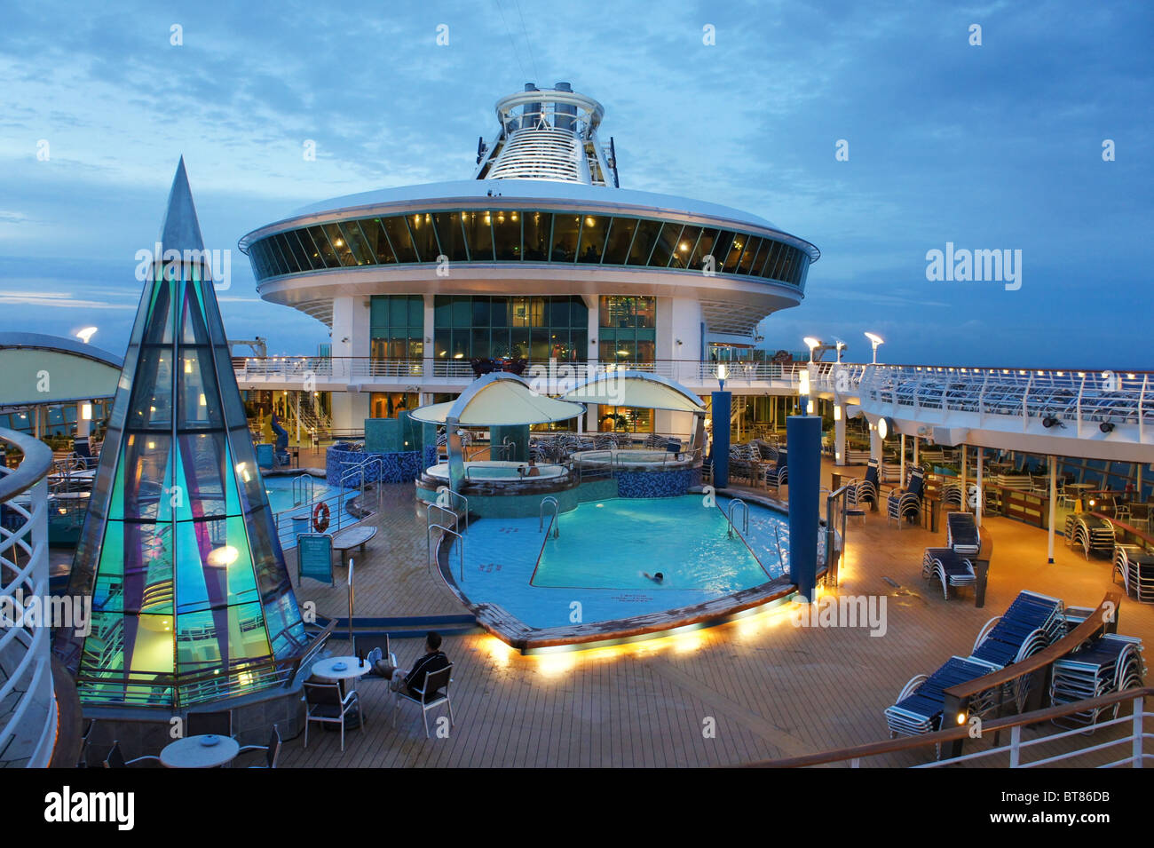 voyager of the seas the royal caribbean stock photo