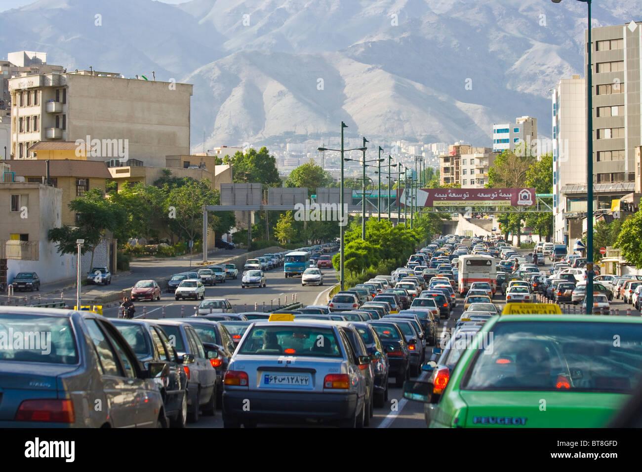 Traffic In Tehran Iran Stock Photo Royalty Free Image