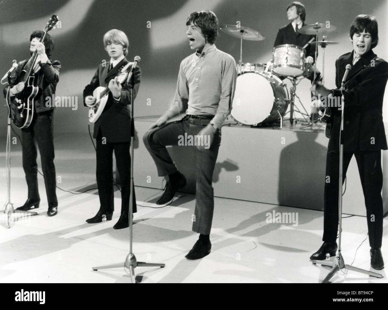ROLLING STONES On A Dutch TV Show In 1963. From L: Bill