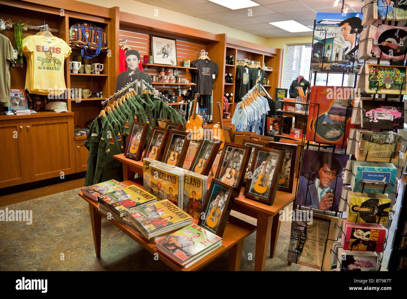 Elvis Presley gift/souvenir shop at Graceland, Memphis, Tennessee ...