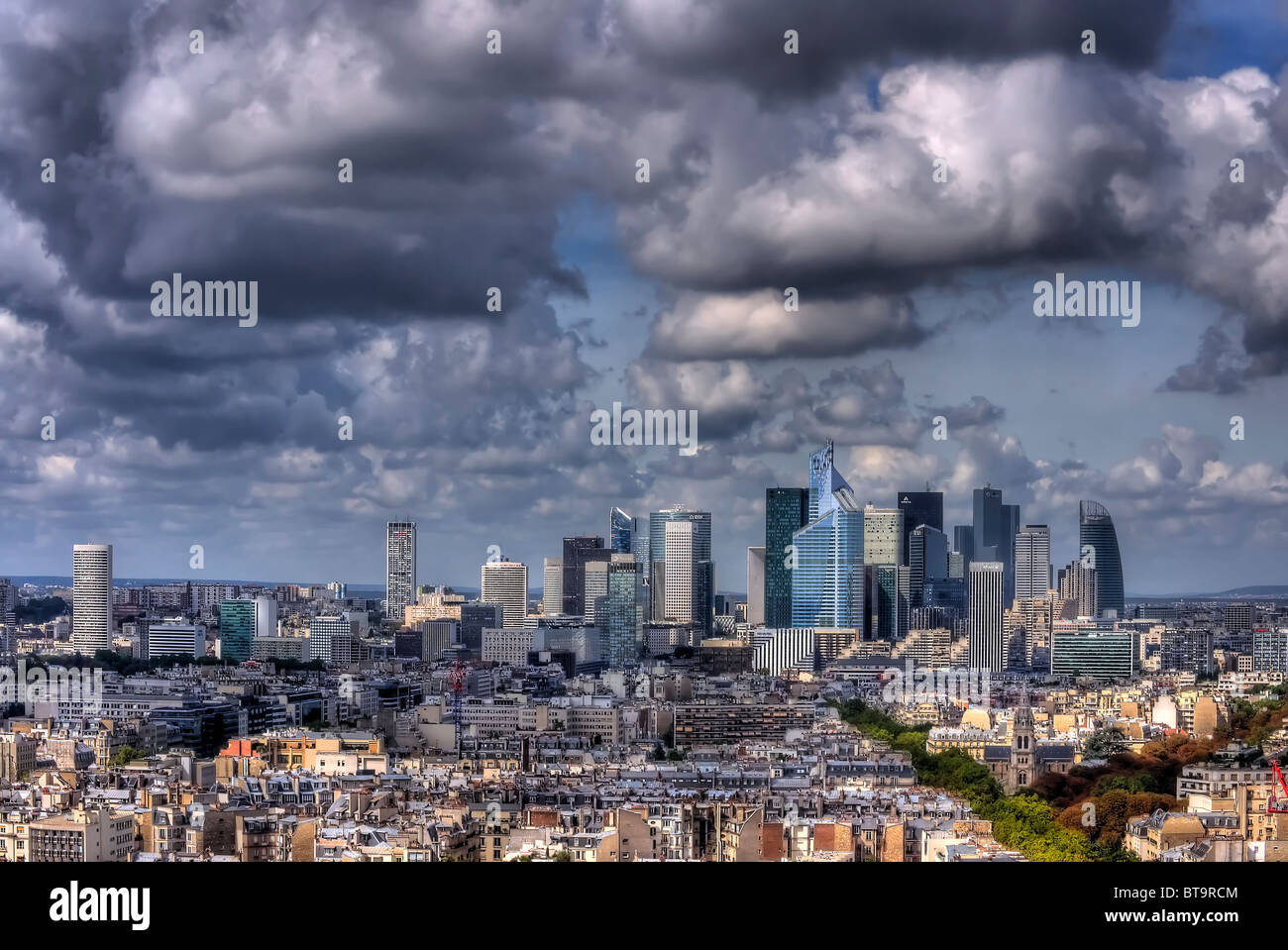 Hotel Concorde Paris Business District From Hotel Concorde Lafayette Stock Photo