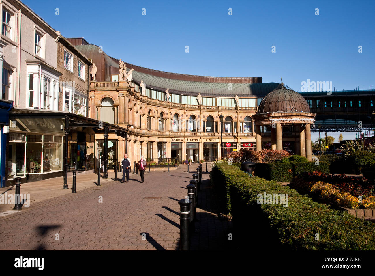Victoria Gardens Shopping Centre Station Square Harrogate North Stock Photo Royalty Free